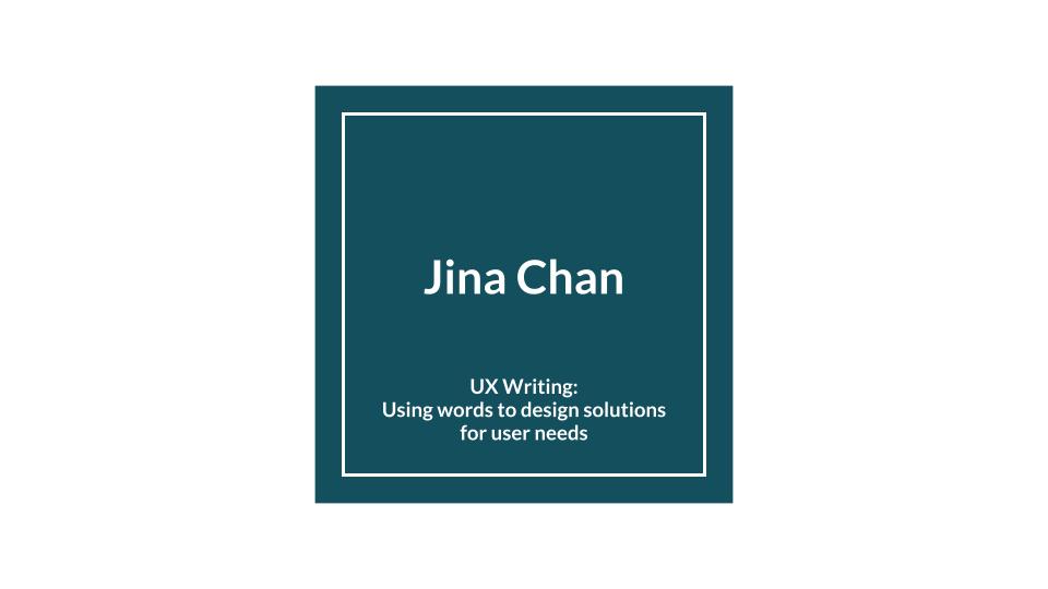 Jina Chan title slide